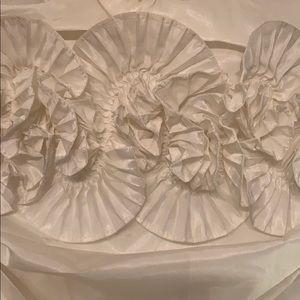White mini dress with ruffle design